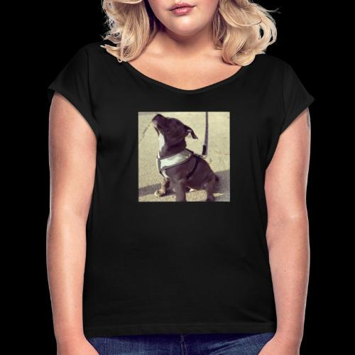 Caviar design presenting Pablo2 - Frauen T-Shirt mit gerollten Ärmeln