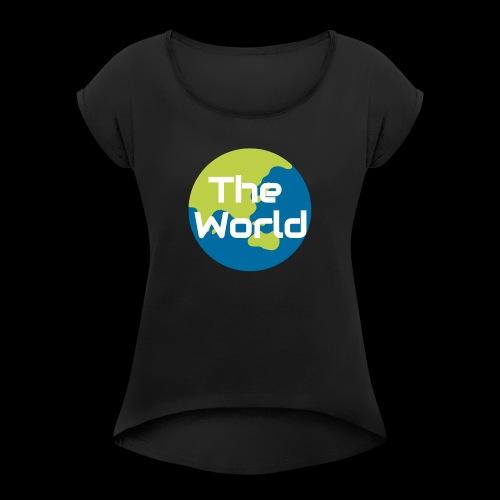 The World Earth - Dame T-shirt med rulleærmer