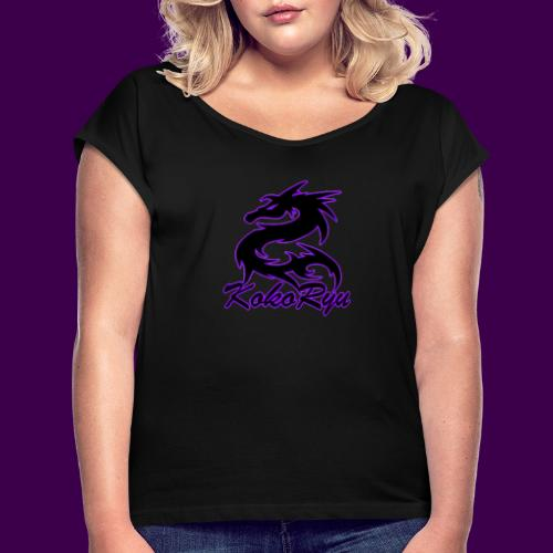 KokoRyu Logo - Women's T-Shirt with rolled up sleeves