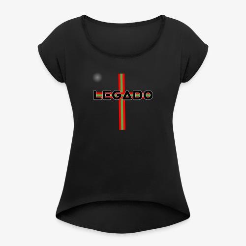 LEGADO - Camiseta con manga enrollada mujer