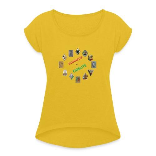 Les insignes de la Légion étrangère - T-shirt à manches retroussées Femme