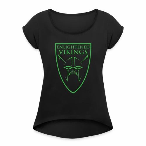 Enlightened Vikings (Org) - T-skjorte med rulleermer for kvinner