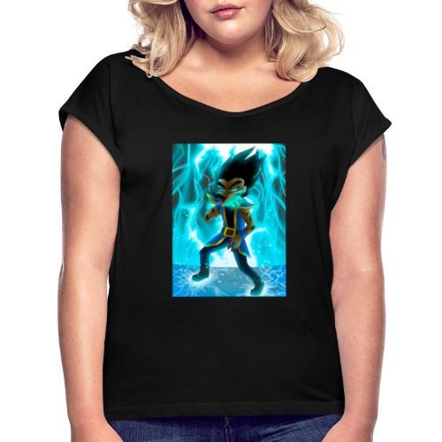 vpnehuk6qqo01 - Frauen T-Shirt mit gerollten Ärmeln