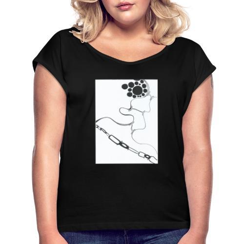 Knew designs from GYbrothers - Frauen T-Shirt mit gerollten Ärmeln