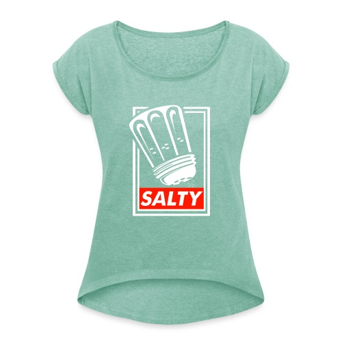 Salty white - Women's T-Shirt with rolled up sleeves