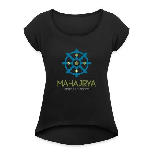 Mahajrya Logo FR - T-shirt à manches retroussées Femme
