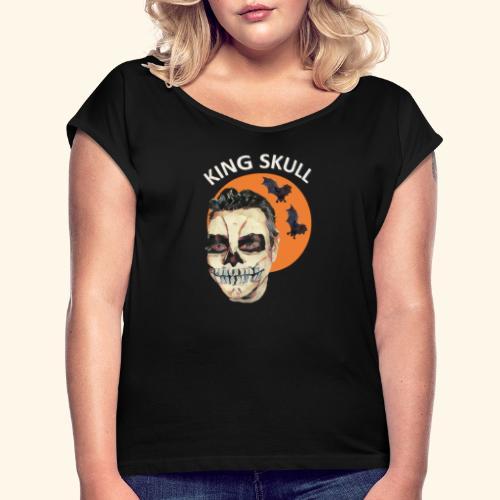 Totenkopf Nahtoderfahrung Mystik - Frauen T-Shirt mit gerollten Ärmeln