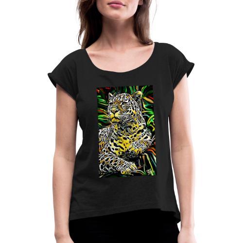 Giaguaro - Maglietta da donna con risvolti