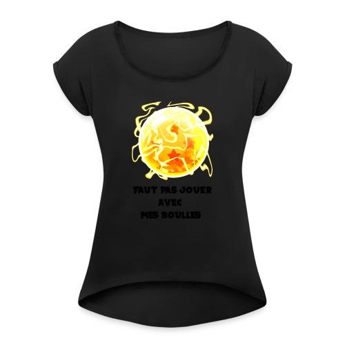 T shirt DBZ - T-shirt à manches retroussées Femme