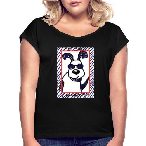 doggy star - Maglietta da donna con risvolti