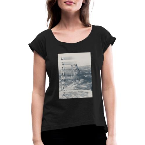 MOONWALK - Women's T-Shirt with rolled up sleeves