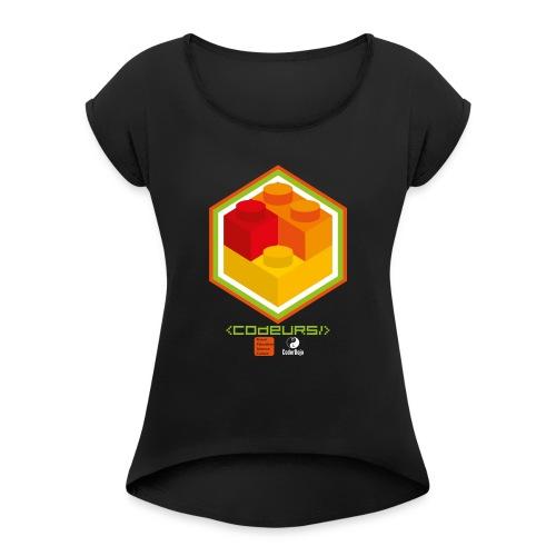 Esprit Club Brickodeurs - T-shirt à manches retroussées Femme