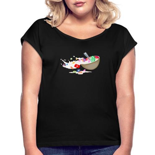 Cereals Socials - Frauen T-Shirt mit gerollten Ärmeln