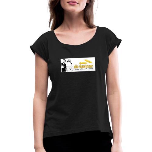 Das Logo mit dem Bild - Frauen T-Shirt mit gerollten Ärmeln