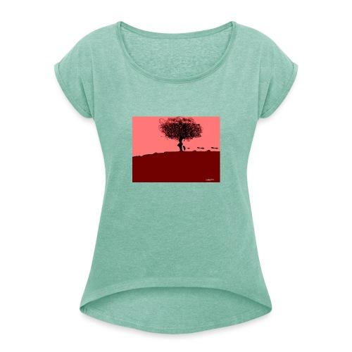 albero_0001-jpg - Maglietta da donna con risvolti