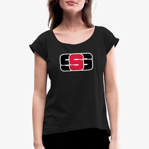 Stark ljudlösning - T-shirt med upprullade ärmar dam