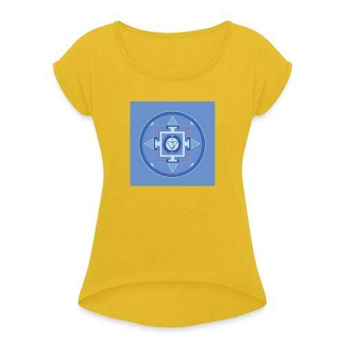 Ajna - Third Eye Chakra - Naisten T-paita, jossa rullatut hihat