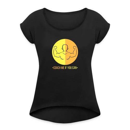 Muscle jaune orange - T-shirt à manches retroussées Femme