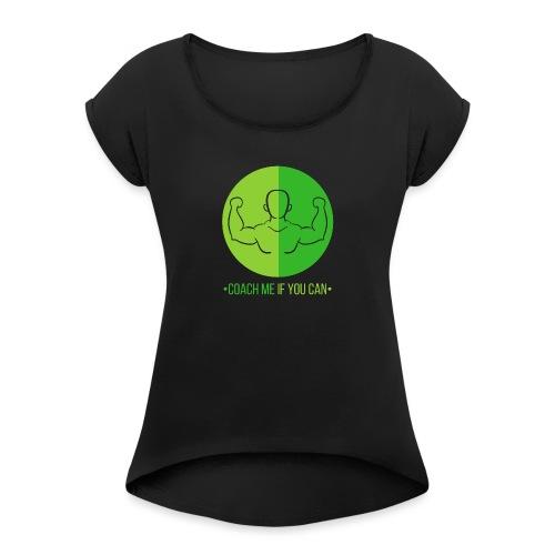 Muscle Vert - T-shirt à manches retroussées Femme