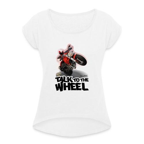 Ducati Monster Wheelie B - Camiseta con manga enrollada mujer