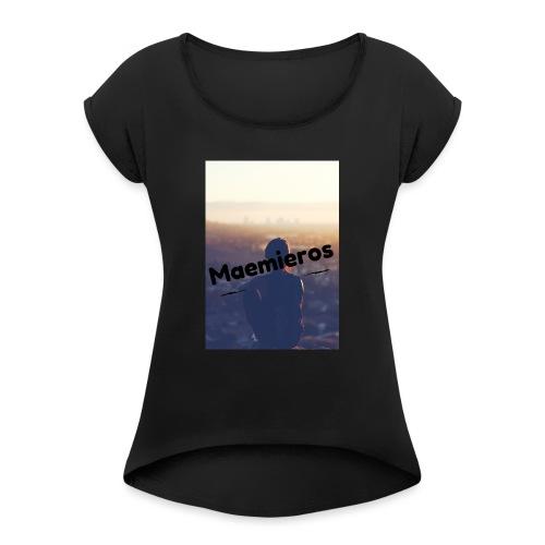 garciavlogs - Camiseta con manga enrollada mujer