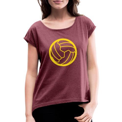 I <3 football! - T-shirt à manches retroussées Femme