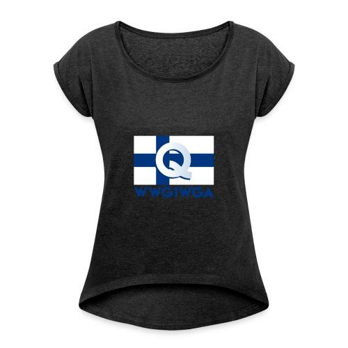 Suomi WWG1WGA - Naisten T-paita, jossa rullatut hihat