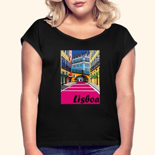 Lisboa - T-shirt à manches retroussées Femme