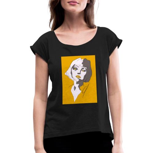 unfocused - Women's T-Shirt with rolled up sleeves