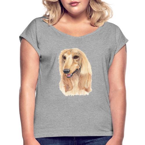 afghanskMynde- A - Dame T-shirt med rulleærmer
