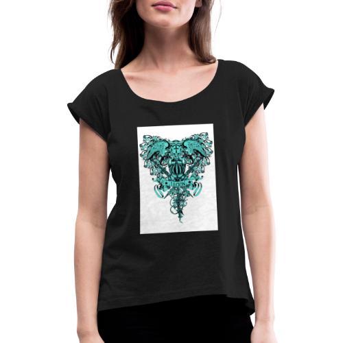 tee template426 - T-shirt à manches retroussées Femme