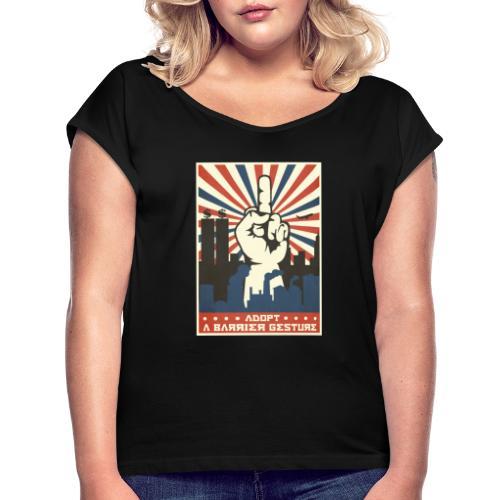 stop capitalisme - T-shirt à manches retroussées Femme