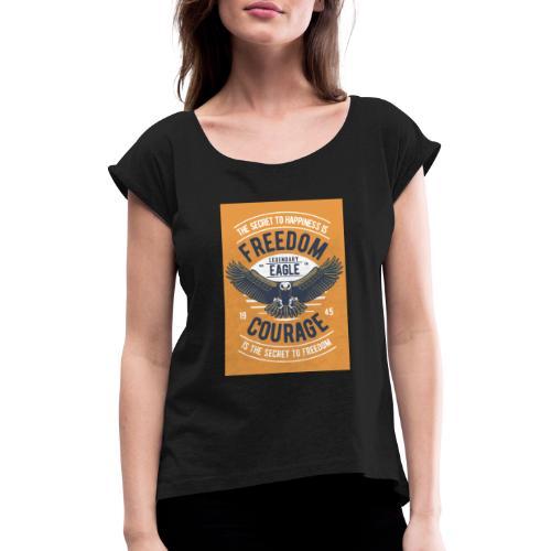 Freedom Eagle - T-shirt à manches retroussées Femme