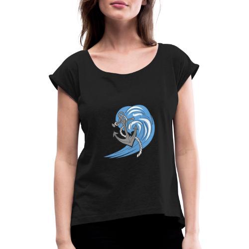 ancora nel mare - Maglietta da donna con risvolti