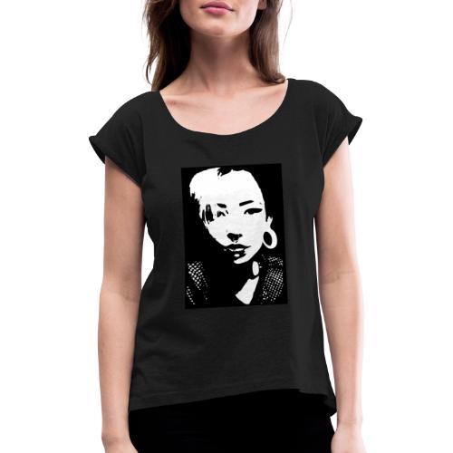 Yami03 - Frauen T-Shirt mit gerollten Ärmeln
