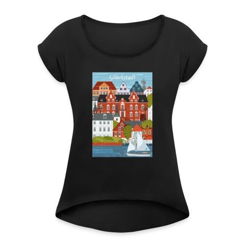 Glückstadt Dansk Design - Frauen T-Shirt mit gerollten Ärmeln