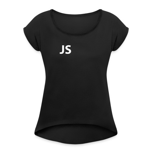 JS - Women's T-Shirt with rolled up sleeves