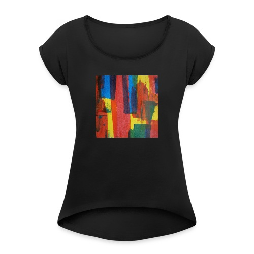 Abstract Primary - Women's T-Shirt with rolled up sleeves