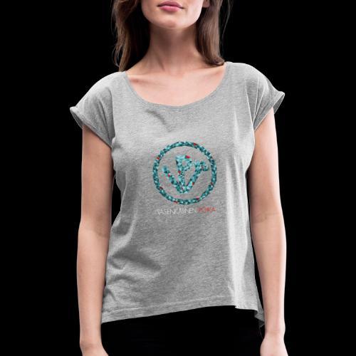 VP Mosaiikki - Naisten T-paita, jossa rullatut hihat