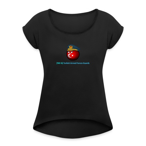 World of tanks - TAF-G clan gear! - Women's T-Shirt with rolled up sleeves