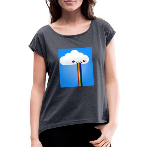 rainbow - Frauen T-Shirt mit gerollten Ärmeln