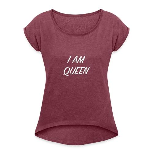Queen blanc - T-shirt à manches retroussées Femme