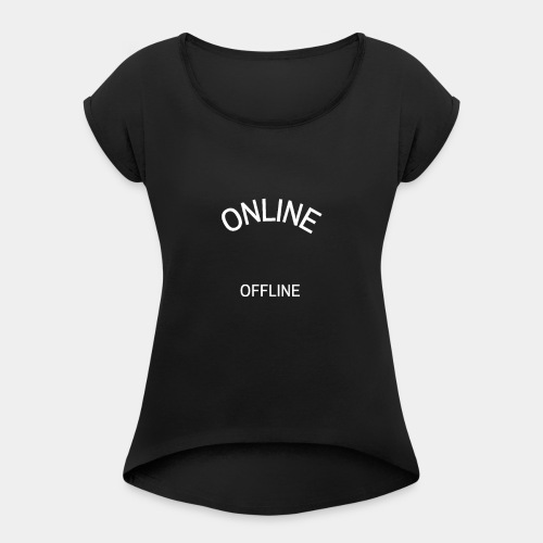 Online - Women's T-Shirt with rolled up sleeves