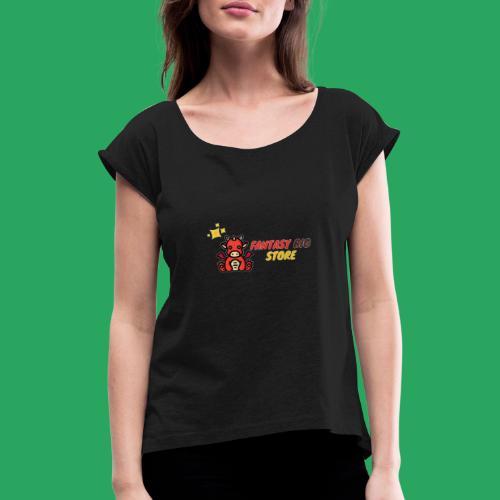 Fantasy big store - Maglietta da donna con risvolti