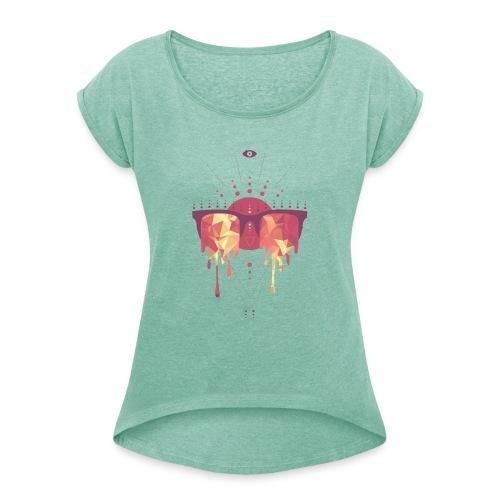 summer png - Dame T-shirt med rulleærmer