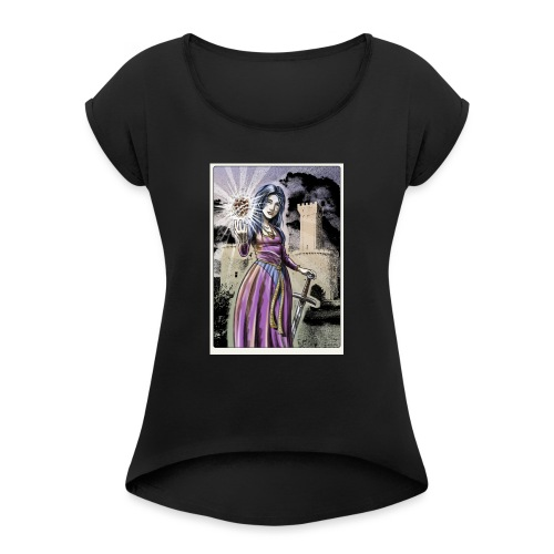 Judit - Maglietta da donna con risvolti