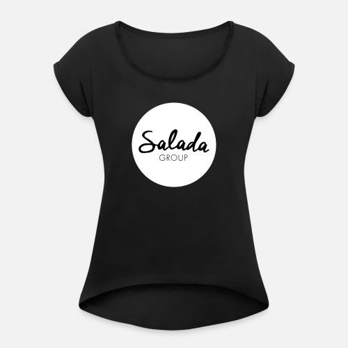 Salada Group - Camiseta con manga enrollada mujer