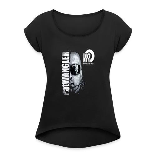 logo pour tee shirt - T-shirt à manches retroussées Femme