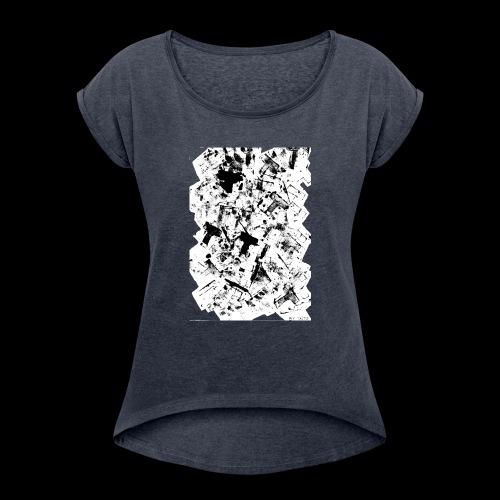 T BY TAiTO - Naisten T-paita, jossa rullatut hihat