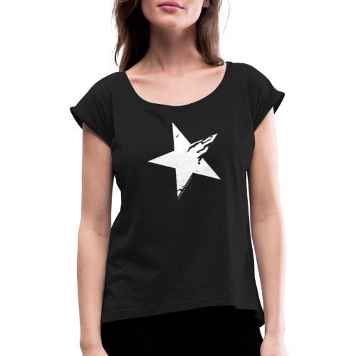 Erfolgshirts Allstars Fame Design - Frauen T-Shirt mit gerollten Ärmeln